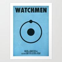 watchmen Art Prints featuring Watchmen - Dr.Manhattan by Fabio Castro