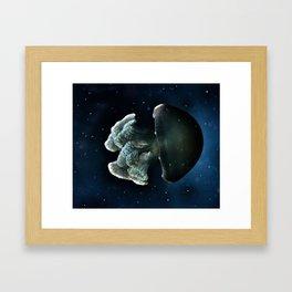 Blue Blubber Jelly Framed Art Print