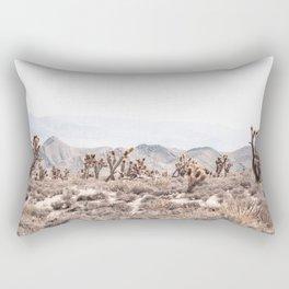 Joshua Tree // Vintage Desert Landscape Cactus Southwest Mountains Rectangular Pillow