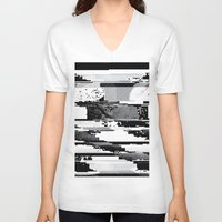 glitch V-neck T-shirts featuring Glitch by poindexterity