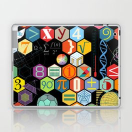 Math in color Black B Laptop & iPad Skin