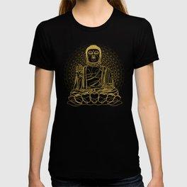 Golden Buddha on Black T-shirt