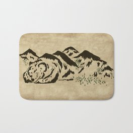 Sleepy Bear Mountain Bath Mat