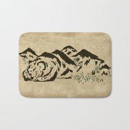 Sleepy Bear Mountain Bath Mat
