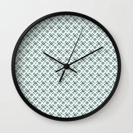 White Brassicas Wall Clock
