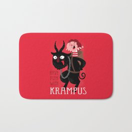 Have fun with Krampus Bath Mat