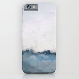 Sky Denim Indigo Navy Blue Ocean Sea Horizon, Abstract Nature Ocean Sunny Clear Morning Water, Paint iPhone Case