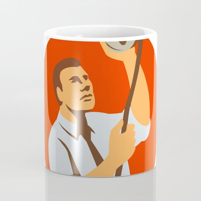 Film Editor Looking at Reel Retro Coffee Mug