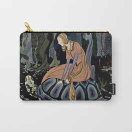 """The Black Tortoise"" by Virginia Frances Sterrett Carry-All Pouch"