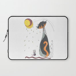 Cat & Mouse Ponder the Universe Laptop Sleeve