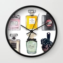 Perfume Collection Wall Clock