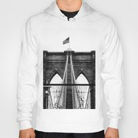 brooklyn bridge Hoodies featuring Brooklyn Bridge by Graham Dunk