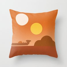 Tatooine Throw Pillow