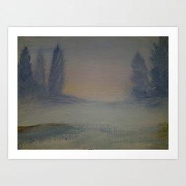 Winter tranquility Art Print