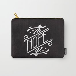 Nope Feminist Art Nouveau Ornate Hand Lettering Quote Carry-All Pouch