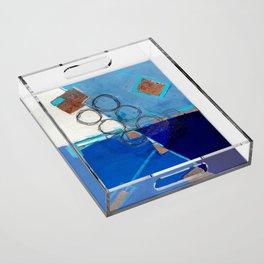 Blue Fields Acrylic Tray