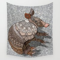 ornate Wall Tapestries featuring Ornate Armadillo by ArtLovePassion