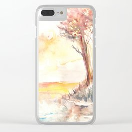 Watercolor Landscape 03 Clear iPhone Case