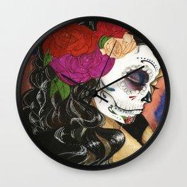 Natural High: Maquillaje De La Dia Wall Clock