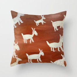 Out for a Sunday Stroll Throw Pillow