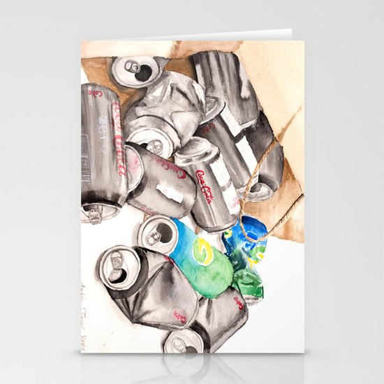 Spilled Cans Stationery Cards