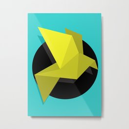 Citric Origami Metal Print