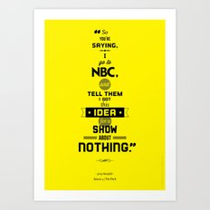 Seinfeld Posters - The Pitch Art Print