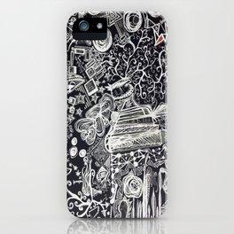 White/Black #2  iPhone Case