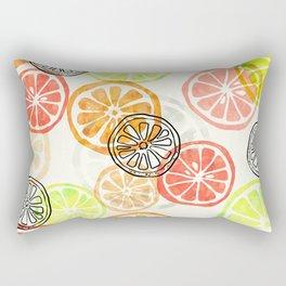 Lemon Slices Rectangular Pillow