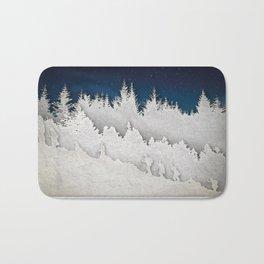 A Snowy Hike Bath Mat