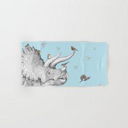 Triceratops and Birdies Hand & Bath Towel