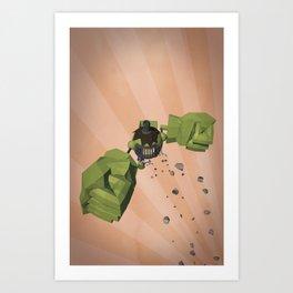 Green-Bot Jump Art Print
