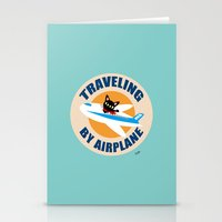airplane Stationery Cards featuring Airplane by BATKEI