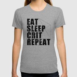 d20 Eat Sleep Crit Repeat T-shirt