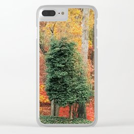 Crooked Tree Clear iPhone Case