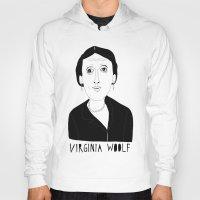 virginia Hoodies featuring Virginia Woolf by Elena Éper