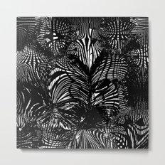 black stripes chaos Metal Print