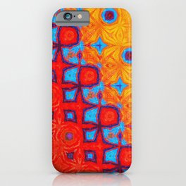 Orange, Blue and Red Abstract Artwork iPhone Case