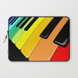 Piano Keyboard Rainbow Colors  Laptop Sleeve