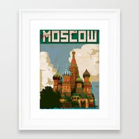 moscow Framed Art Prints featuring Moscow  by Nick's Emporium Gallery