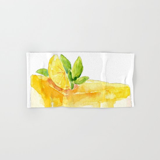 Lemon Cake Hand & Bath Towel