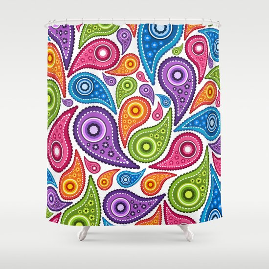 Crazy Paisley Shower Curtain
