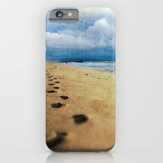 Footprints in the Sand (California Beach) iPhone & iPod Case