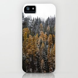 Larches in Snow iPhone Case