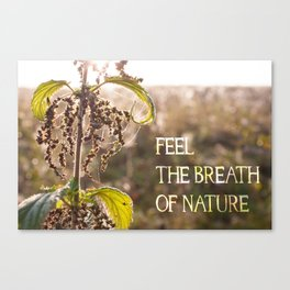 Feel the Breath of Nature (with caption) Canvas Print