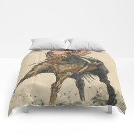 Racehorse Watercolor Comforters