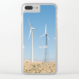 San Gorgonio Pass wind turbine Clear iPhone Case