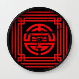 PATTERN ART09-1-Red Wall Clock