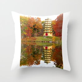Jade Buddha Pagoda Throw Pillow