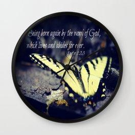 1 Peter 1:23 Born Again Wall Clock